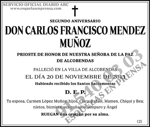 Carlos Francisco Mendez Muñoz